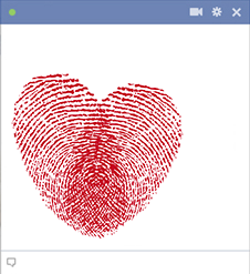 Fingerprints Heart Emoticon