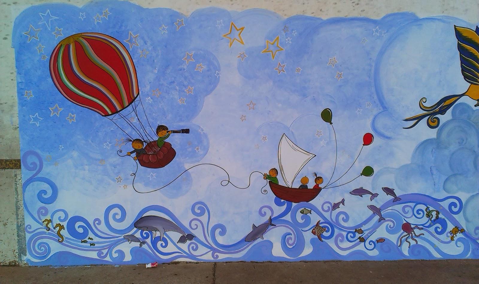 Pintura mural para ni os so ando despiertos susoleto for Murales decorativos para bebes