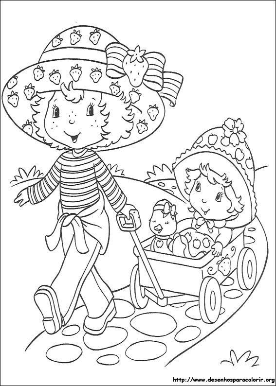Desenhos da moranguinho para colorir imagens para colorir - Coloriage pour petite fille ...