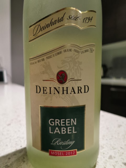 Wine Review of 2012 Deinhard Green Label Riesling from Mosel, Germany