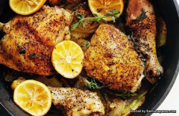 Ayam-Lemon-dan-Kentang