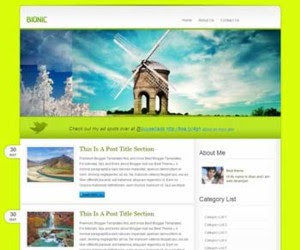 Bionic Blogger Template