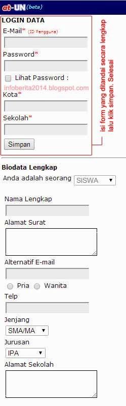 cara daftar aplikasi tryout online UN Kemdikbud (atun) part 2