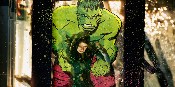 superhero comic and movie mashup hulk