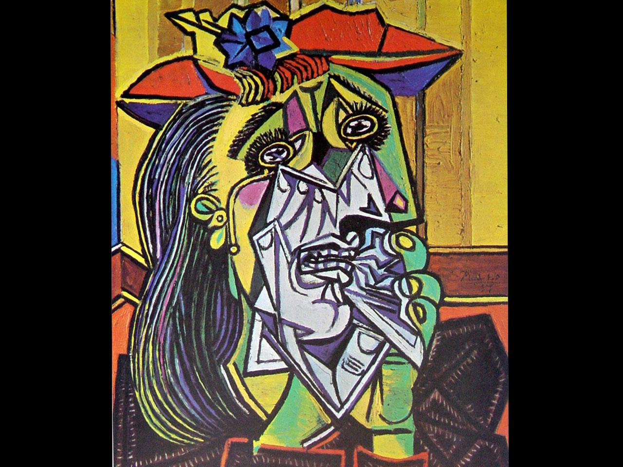Le pire de Picasso Picasso+Pablo+1881+1973+La+femme+qui+pleure+1937