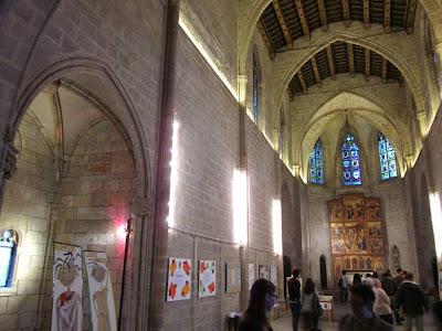 Inside the gothic chapel of Santa Agata