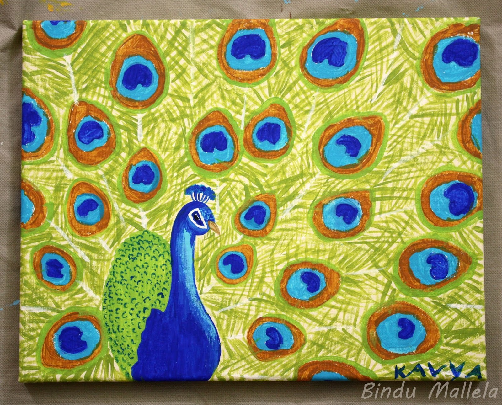 Simple peacock painting images for Easy peacock paintings