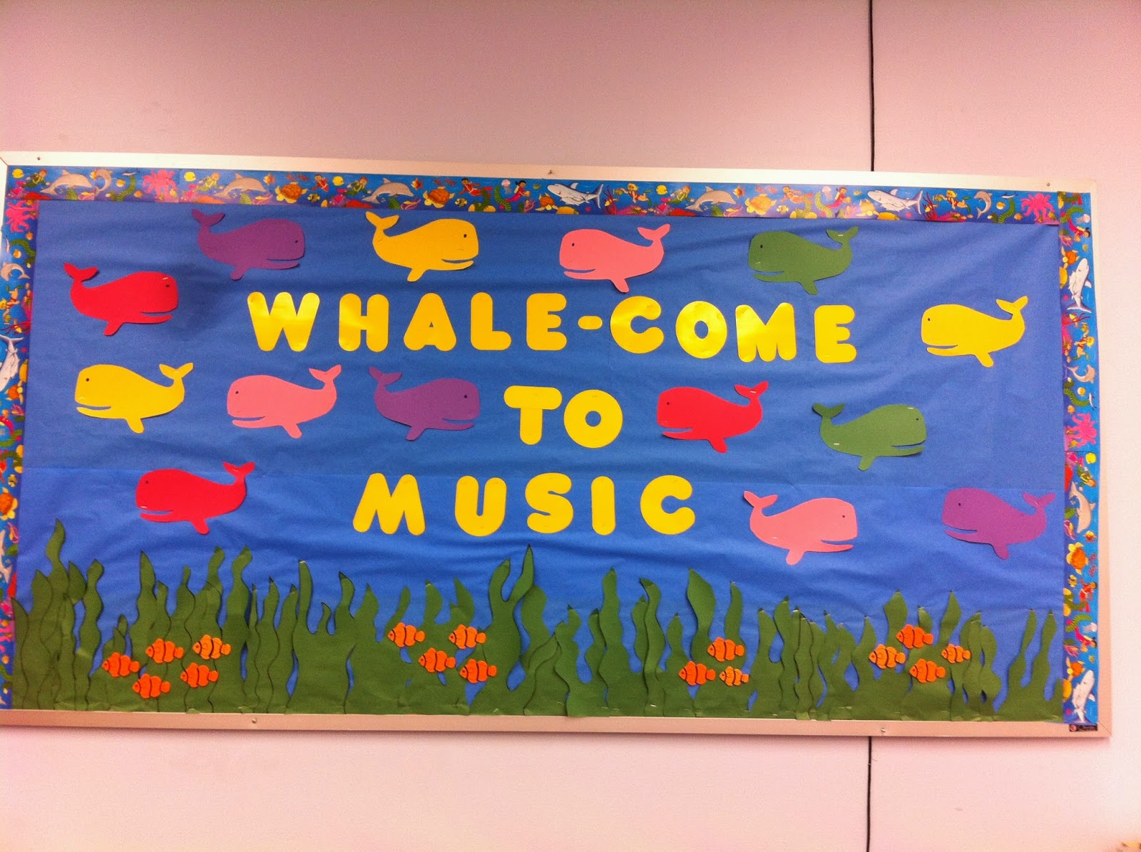 Whale Classroom Decor ~ Music with miss w whale come to back school