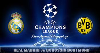 Real Madrid vs Borussia Dortmund uefa champions league semi finals 2013 logo