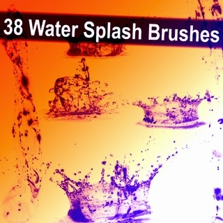 Realistic water brushes set for ps