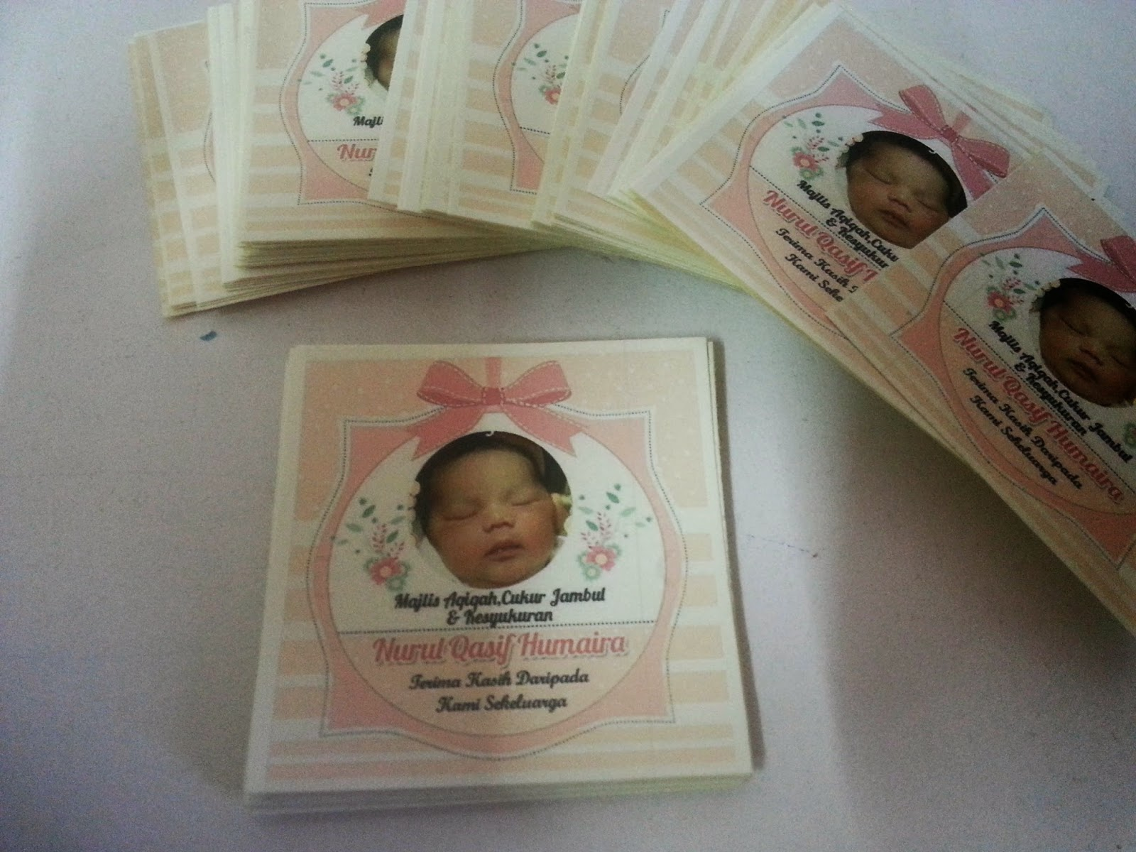 Sticker saiz 50 mm juga custom made design dengan tema for Idea doorgift untuk aqiqah