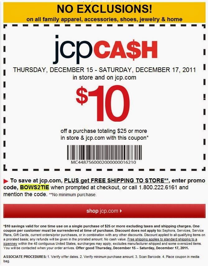 Jcpenney coupons in store december 2018