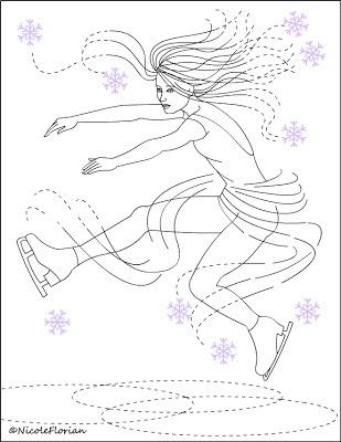 Image Result For Figure Skating Coloring