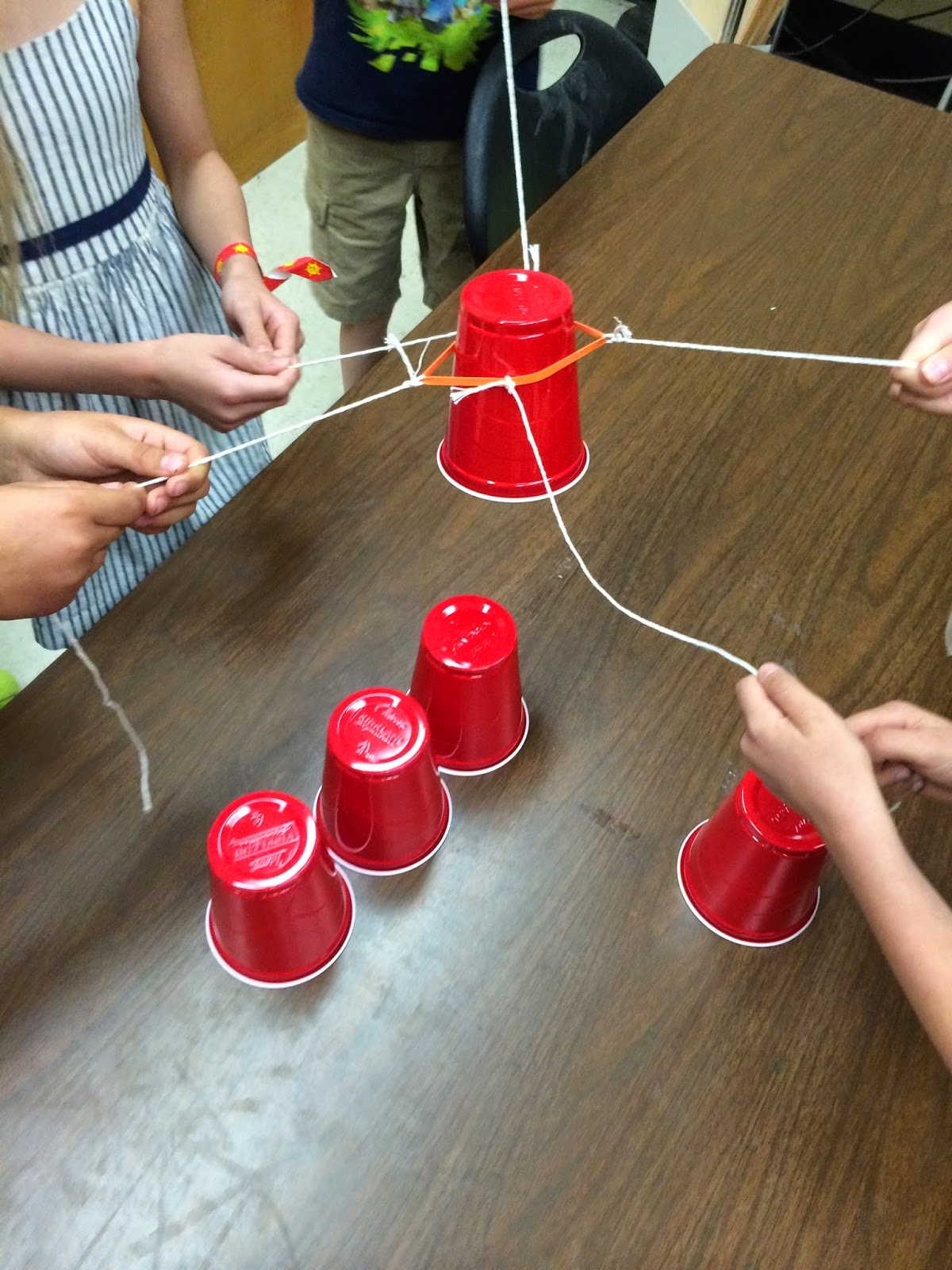 Stacking Cups Team Building Activity