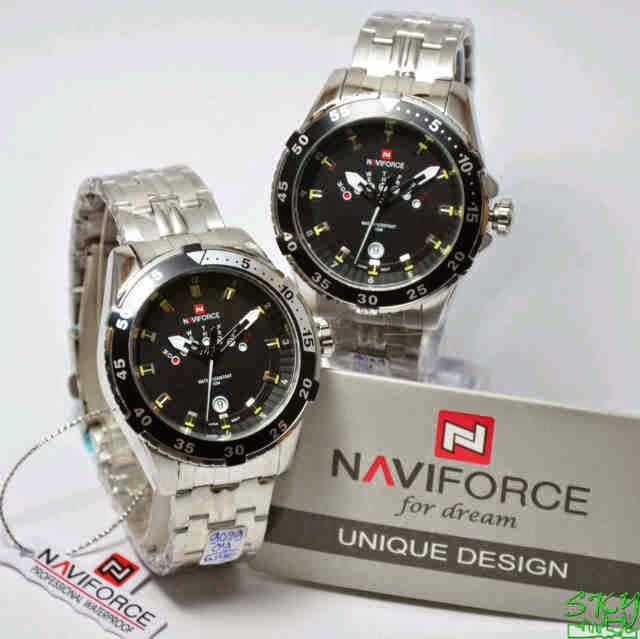 Naviforce 9029 SS Original list hitam
