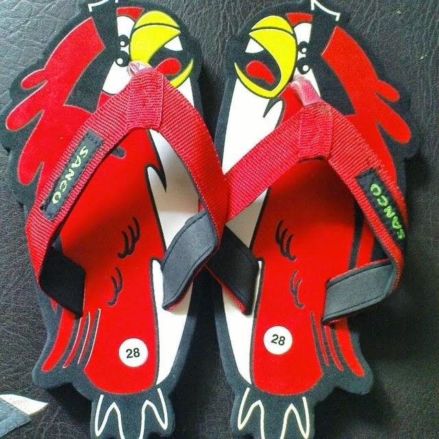 Motif Sandal Sancu Red Bird