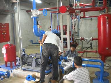 proses instalasi pompa boster
