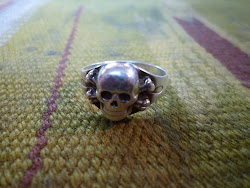 AROUND 50's SKULL SILVER RING