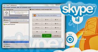 صورة من داخل برنامج سكايبي skype