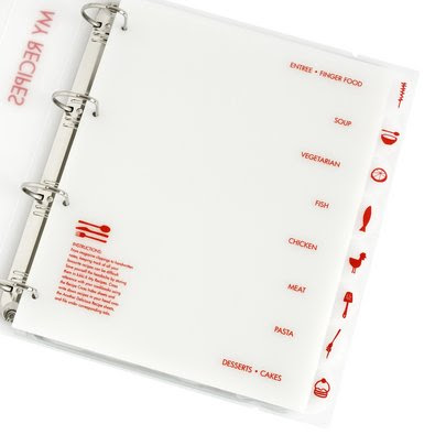 recipe organiser binder
