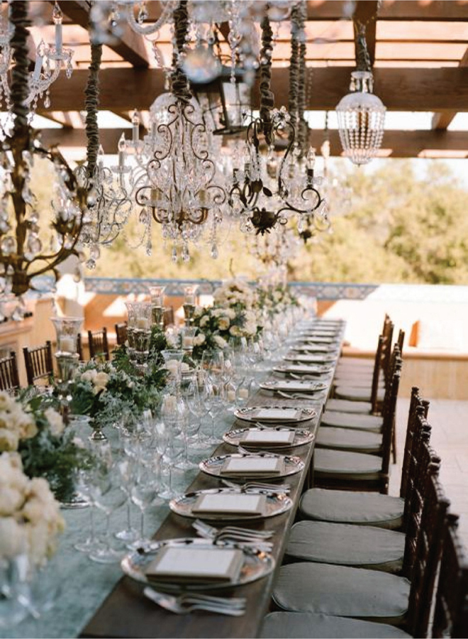 Belle Ideas Wedding runner long  tables Magazine for ideas Table   Long The table