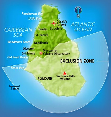 an analysis of the volcanic activities in montserrat island in the caribbean