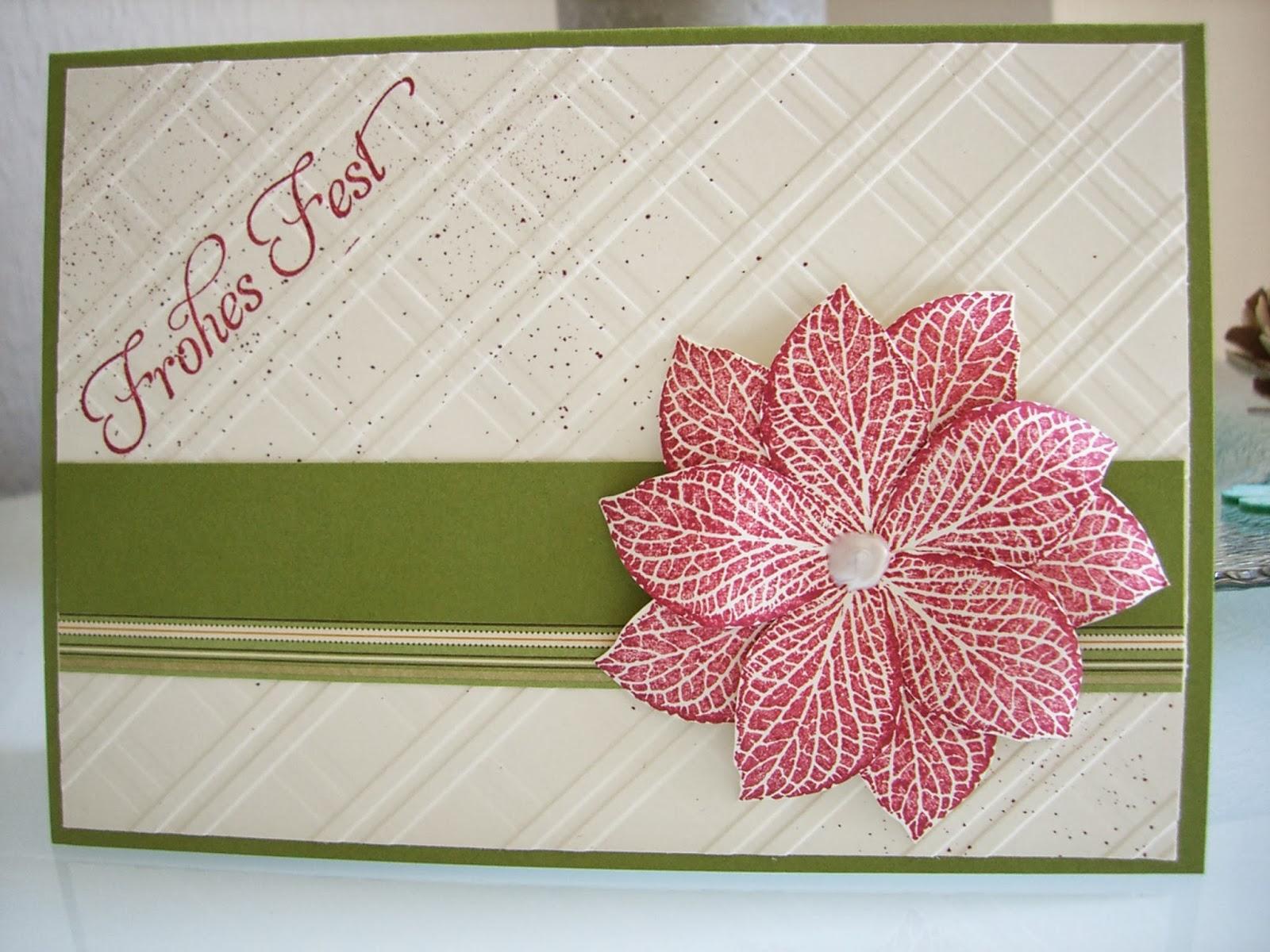 Weihnachtskarte, Stempelset French Foliage