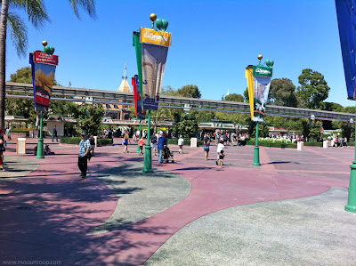Disneyland Esplanade resort DCA entrance entry park