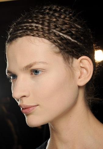 peinados con trenzas cadena 2013