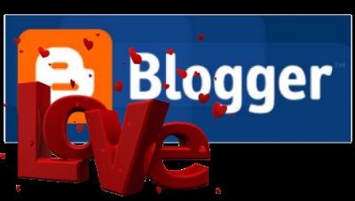 Логотип Blogger и надпись Love