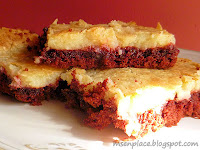 Red Velvet Cheesecake Bars  | Ms. enPlace