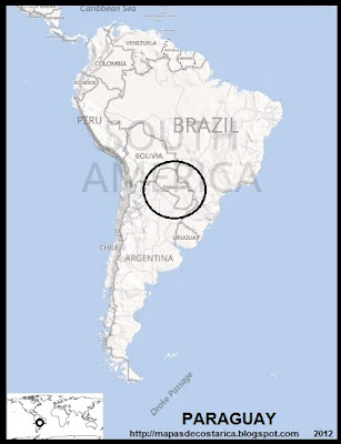 Ubicación de PARAGUAY en Sudamérica, BING