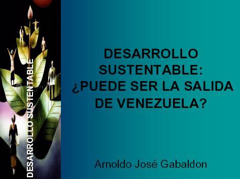 Reseña sobre Arnaldo Gabaldón