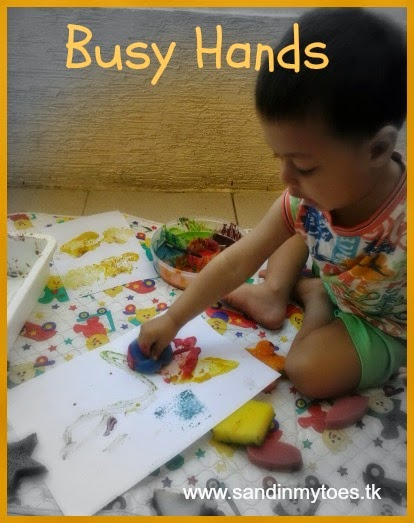 Busy Hands activities and crafts for toddlers