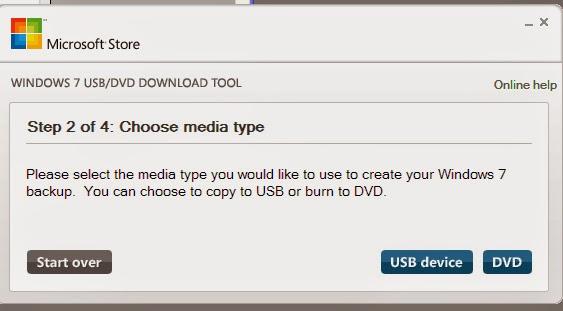 Cài đặt Win7 bằng 2 phần mềm Windows 7 USB/DVD Download Tool