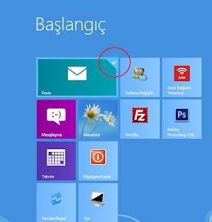 Windows 8 başlangıç ekranındaki simgelerin boyutunu küçülmek/büyütmek için?