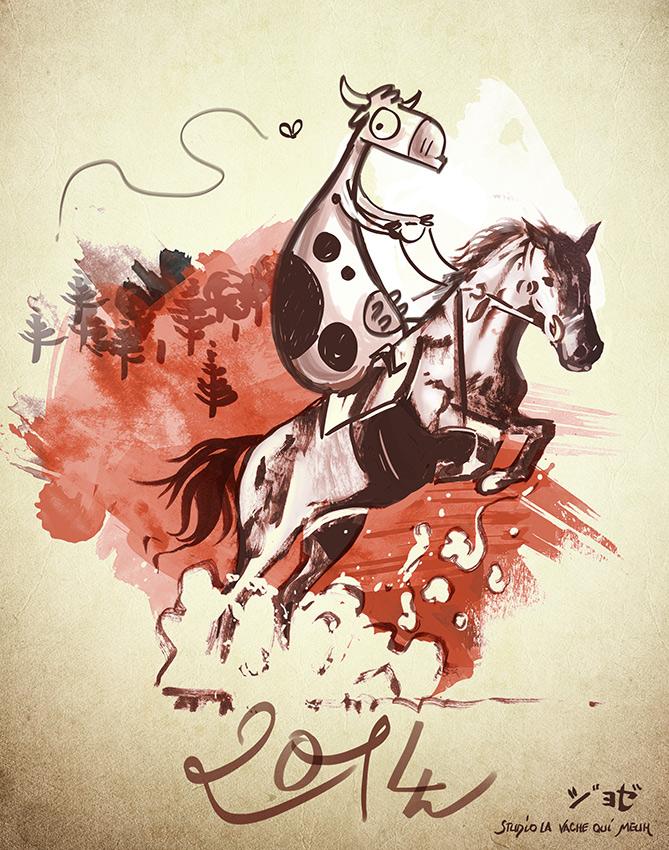 nouvel an chinois placé sous le signe du cheval