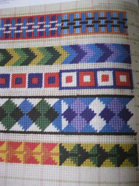 V m j p coats ltd check weave canvas embroidery