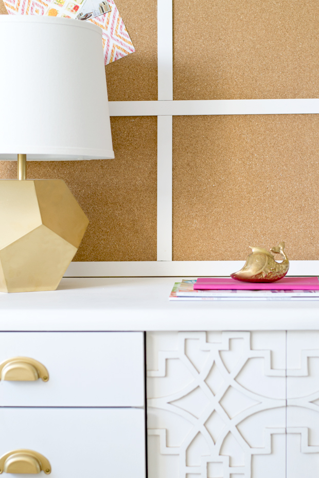creating a large corkboard with cork placemats