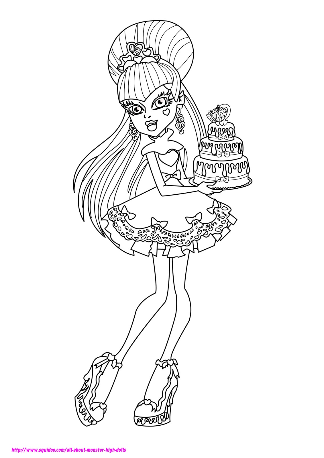 Szydelkowo monster high draculaura for Draculaura monster high coloring pages