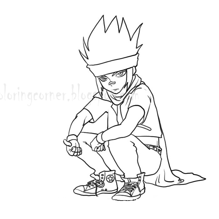 Beyblade coloring pages ldrago picture