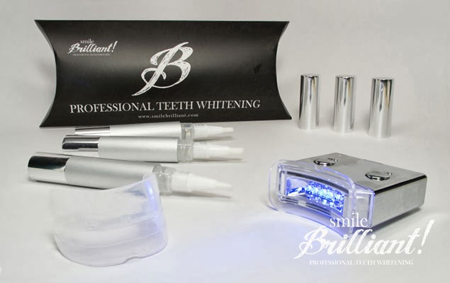 Smile brilliant LED teeth whitening system