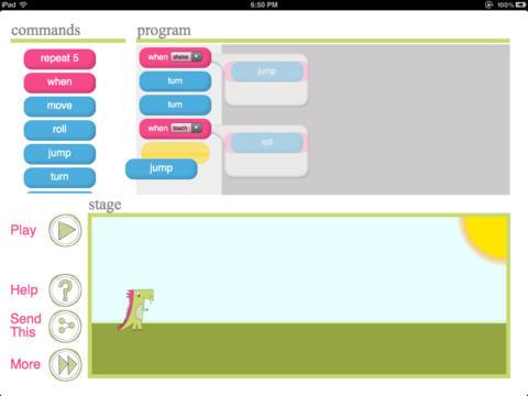 Daisy the dinosaur, aplicación para iPad.