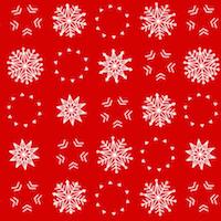 snowflake pattern red