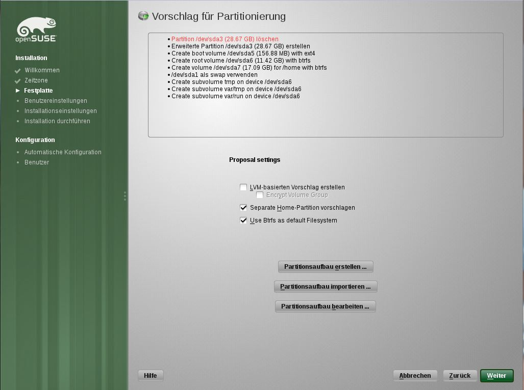 screenshot openSUSE 12.1 Milestone 2 11.4 Final 1