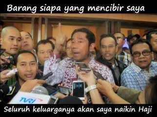 Status Lucu Save Haji Lulung