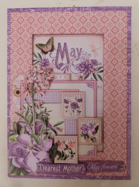 Time To Flourish Decorative Frame January Clare Charvill Jones Crafts Graphic 45