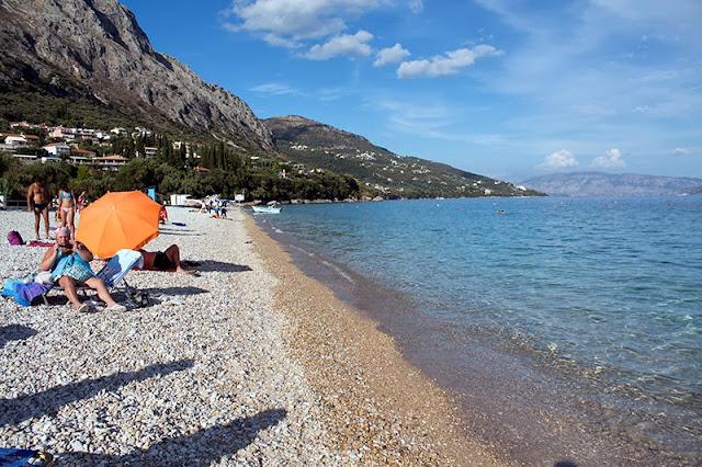 Plaža Barbati na ostrvu Krf u Grčkoj