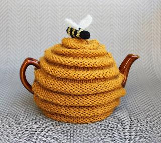 Théière tricot abeille