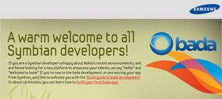 Samsung invites unhappy Nokia Symbian developers to join the bada community